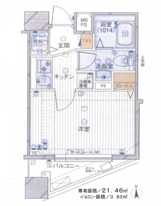 クレアシオン渋谷神山町802号室(賃貸)