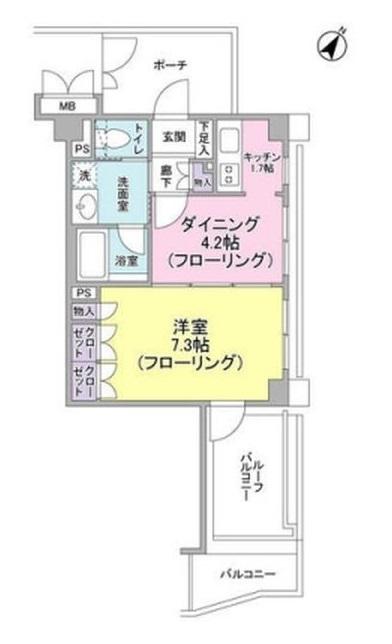 マートルコート代々木公園406号室(賃貸)
