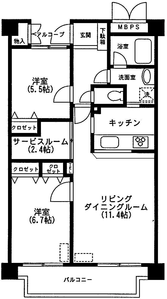 ベルアトーレ野沢 303号室