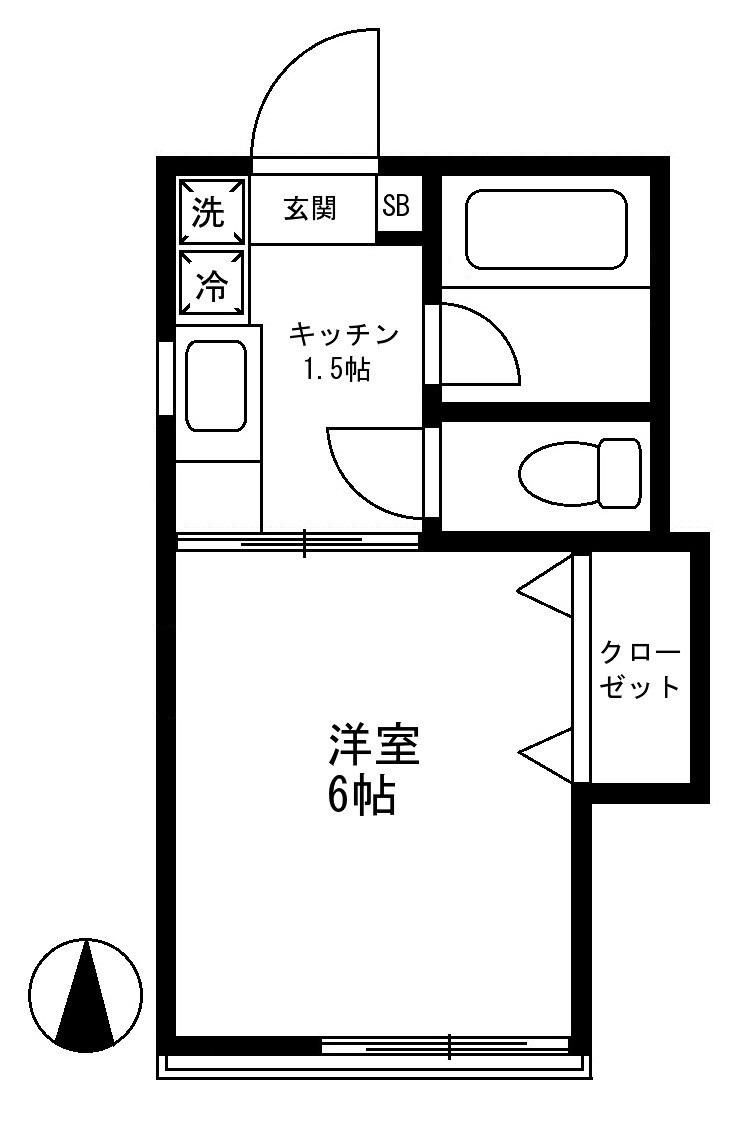 カーサ清水 201号室(賃貸)