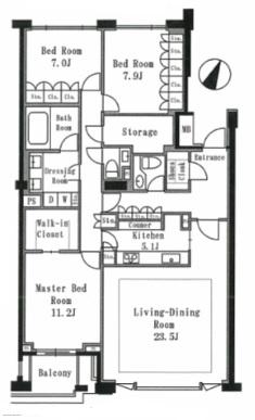 プライムメゾン御殿山WEST 405号室(賃貸)