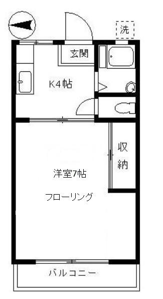 ハイツまゆみ 203号室(賃貸)