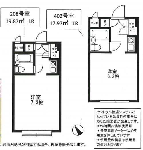 シャルム初台 208号室