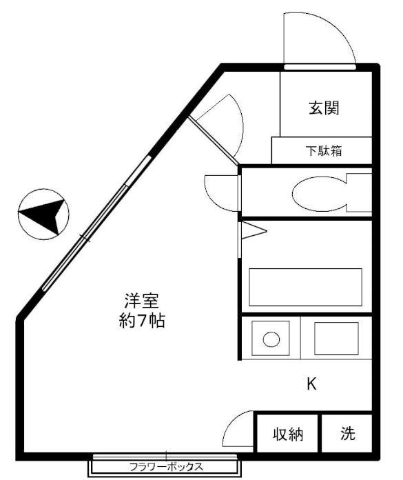 富ヶ谷ヒルズ203号室(賃貸)