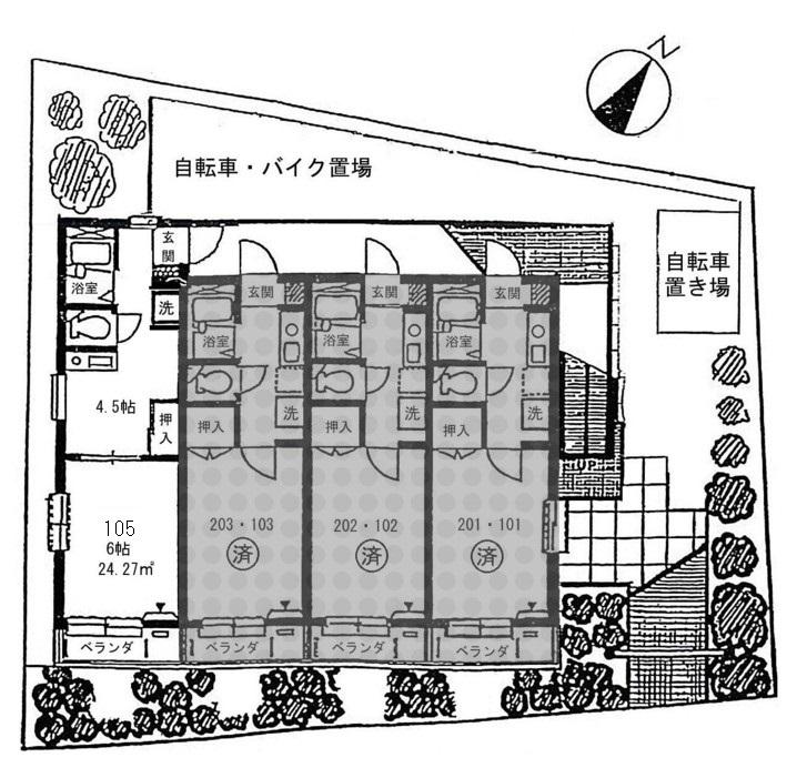 ☆宅配Box新規設置!1DK角部屋☆メゾン・ラフィネ(賃貸マンション)