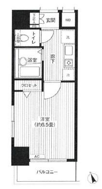 プレール代々木公園弐番館1201号室(分譲賃貸マンション)
