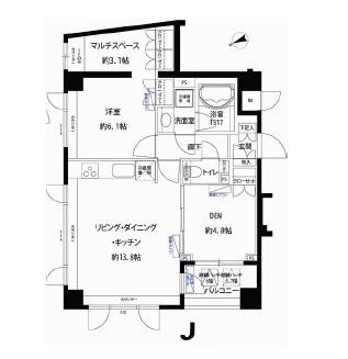 フォレシティ富ヶ谷605号室(ペット可賃貸マンション)