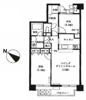 ベルアトーレ野沢402号室(賃貸)