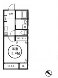 マメゾン二葉202号室(賃貸)