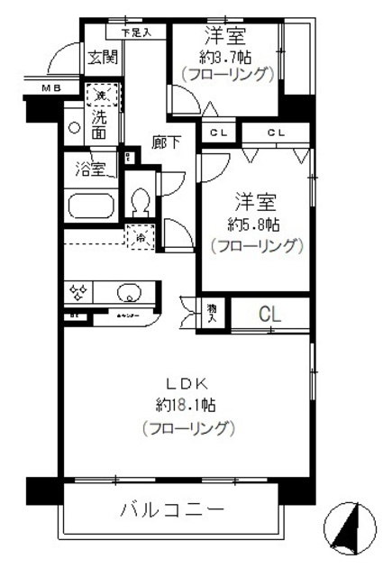 マンションアクロス代々木 208号室