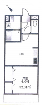 アクアフレア代々木八幡102号室(賃貸)