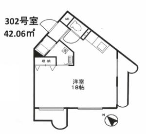 シャンボール代々木302号室(賃貸)