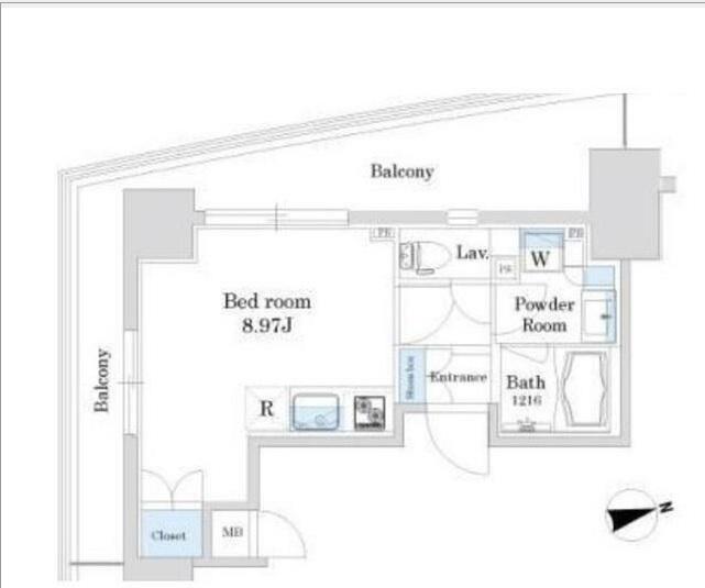 グランテール代々木104号室(賃貸)