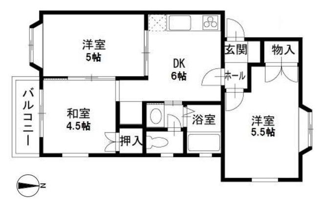 ヒルトップ上原 B205号室(賃貸)